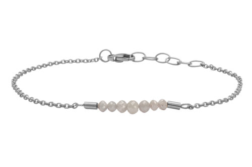 Heiring RAW armbånd rhodineret sølv.