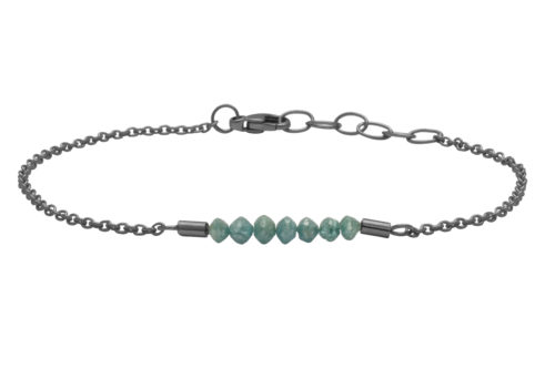 Heiring RAW armbånd oxyderet sølv