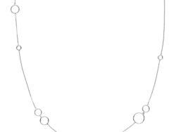 Metropol collier sølv med åbne cirkler