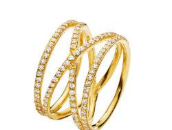 Izabel Camille Promise large ring forgyldt sølv