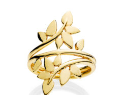 Izabel Camille Poetry large ring forgyldt sølv