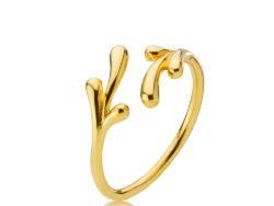 Izabel Camille Embrace ring forgyldt sølv