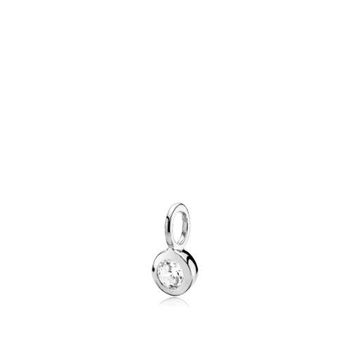 Dot vedhæng sølv med syntetisk zirkon