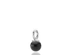 Pearly vedhæng sølv med sort onyx