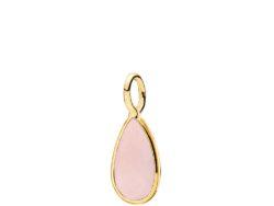 Gem Drop vedhæng forgyldt sølv med pink calcedon