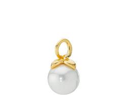 Berry vedhæng forgyldt sølv med hvid shell perle