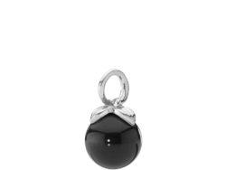 Berry vedhæng sølv med sort onyx