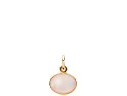 Candy vedhæng forgyldt sølv med pink calcedon