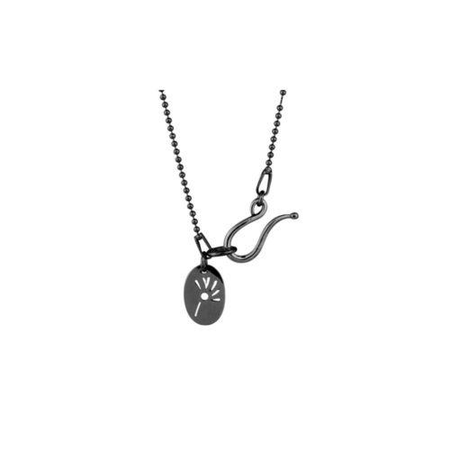 sort rhodineret sølv kuglekæde