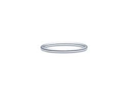 id fine DASH RING i rhodineret sølv.