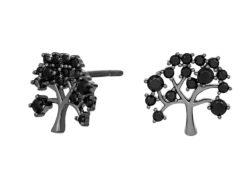 Joanli Nor CLEO ørestiks sort sølv