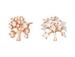 Joanli Nor CLEO ørestiks rosaforgyldt sølv