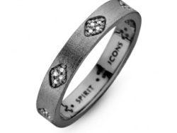 Spirit Icons Shine ring sort sølv