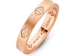Spirit Icons Shine ring rosaforgyldt sølv