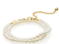 Izabel Camille Jackie armbånd med hvide perler