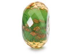 "Trollbeads charm glas ""Grønne glimt"""