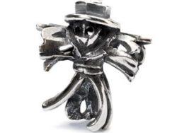 Trollbeads sølv charm Fugleskræmsel