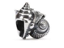 Trollbeads sølv charm Kærlighedskonkylier