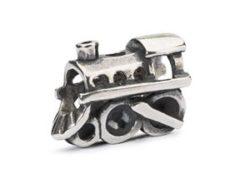Trollbeads sølv charm Lokomotiv
