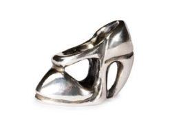 """Trollbeads sølv charm """"Højhælet sko"""""""