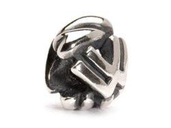 "Trollbeads sølv charm ""W-kugle"""
