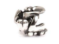 "Trollbeads sølv charm ""Z-kugle"""