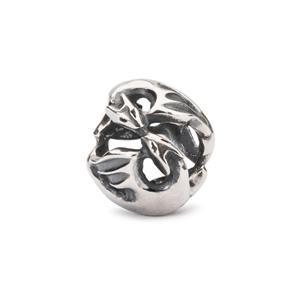 """Trollbeads sølv charm """"Dansende drager"""""""