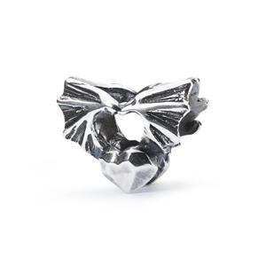 "Trollbeads sølv charm ""Den bedste side"""