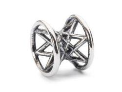 """Trollbeads sølv charm """"Stjernesmil"""""""