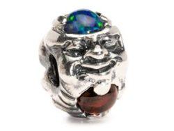 """Trollbeads sølv charm """"Trold med sten"""""""