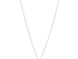 Lund Copenhagen marguerit halskæde sølv/hvid