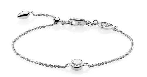"Izabel Camille ""Dot"" armbånd i sølv med syntetisk zirkonia."
