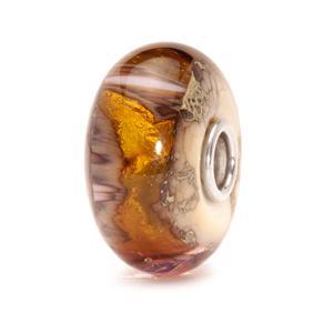 """Trollbeads glas charm """"Den gyldne hule"""""""