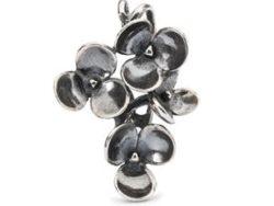 """Trollbeads sølv charm """"Blomstrende pilblad vedhæng"""""""
