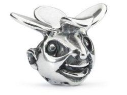 "Trollbeads sølv charm ""Nysgerrighedens trold"""