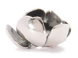 "Trollbeads sølv charm ""Skyggeblomst"""