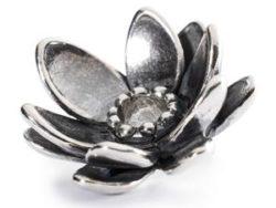 "Trollbeads sølv charm ""Stor lotus"""
