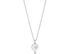 Lund Copenhagen marguerit halskæde i sølv med hvid emalje. Halskæden består af 2 margueritter. En i 11 mm og en i 7,5 mm. Margueritterne hænger lodret ned efter hinanden.