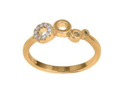 """Joanli Nor """"Evynor"""" ring forgyldt sølv 145 098-3"""