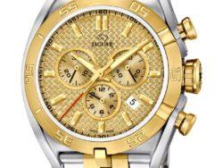 Jaguar Special Edition ur i bicolor, guldduble og stål, med guld farvet urskive. Uret er med datovisning og kronograffunktion.
