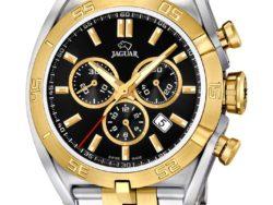 Jaguar Special Edition ur i bicolor, guldduble og stål, med sort urskive. Uret er med datovisning og kronograffunktion.