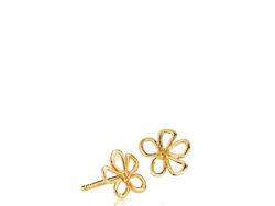 "Izabel Camille ""Honey"" ørestikker i forgyldt sølv. Ørestikken er formet som en blomst og er 10x14 mm."