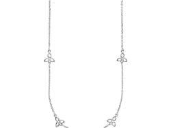 """Izabel Camille """"Scarlet"""" halskæde i sølv. Fordelt rundt på halskæden er der små blade."""