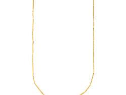 """Izabel Camille """"Rainfall"""" halskæde i forgyldt sølv. Halskæden er med en blanding af kædestykke og fast kædestykke."""