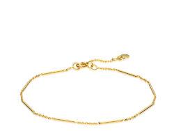 """Izabel Camille """"Rainfall"""" armbånd i forgyldt sølv. Armbåndet er med en blanding af kædestykke og fast kædestykke. Armbåndet er justerbart fra 18 til 20 cm."""