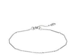 """Izabel Camille """"Rainfall"""" armbånd i sølv. Armbåndet er med en blanding af kædestykke og fast kædestykke. Armbåndet er justerbart fra 18 til 20 cm."""