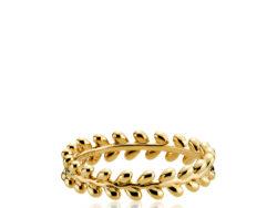 """Izabel Camille """"Olivia"""" ring i forgyldt sølv. Ringen er med små blade hele vejen rundt."""