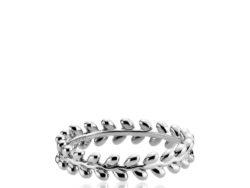 """Izabel Camille """"Olivia"""" ring i sølv. Ringen er med små blade hele vejen rundt."""