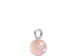 """Izabel Camille """"Marble"""" vedhæng i sølv med pink calcedon. Vedhænget er faceteret og 7x12 mm."""