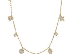 """Joanli Nor """"Hayleynor"""" halskæde forgyldt sølv (245 168-3)"""